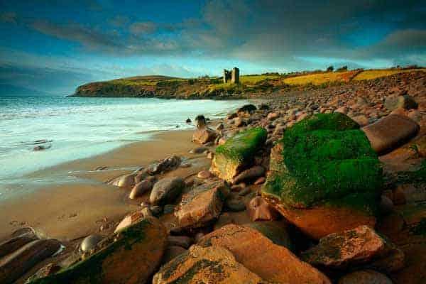 Cill Mihuire Castle on the Dingle Peninsula in Ireland
