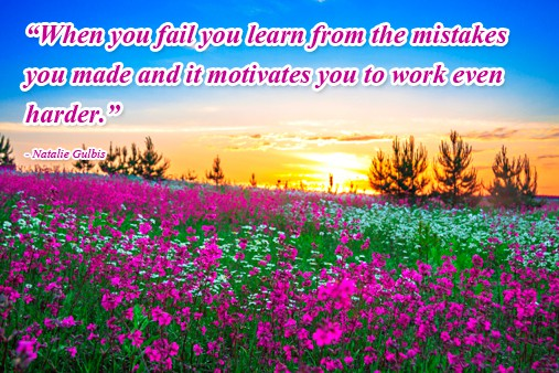 How to Increase Self-Esteem Natalie Gulbis Quote - Mistakes