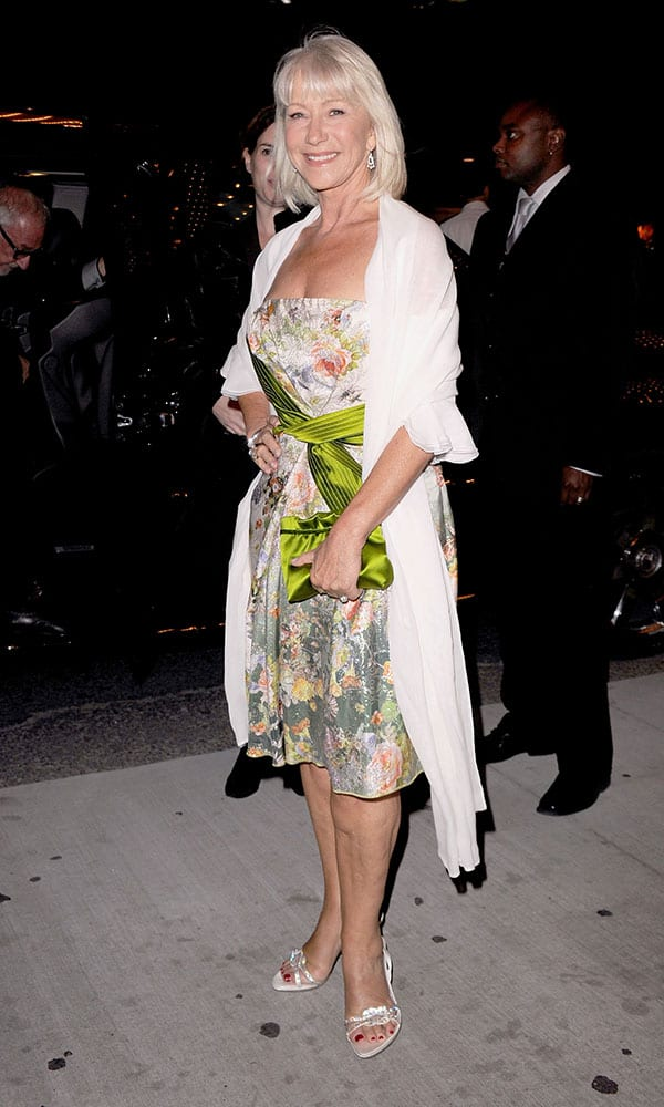 Fashion for Women Over 60: Helen Mirren at the Brighton Rock Premier. Photo Credit: Getty Images