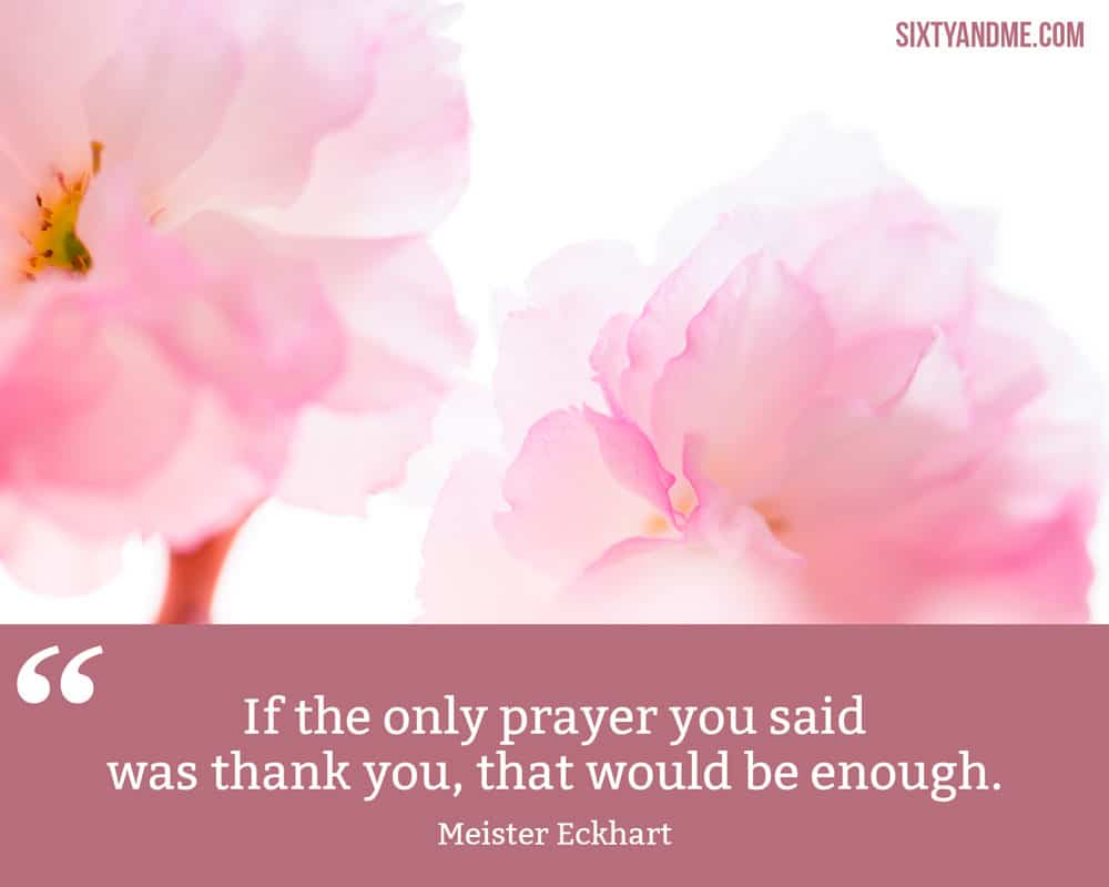 """If the only prayer you said was thank you, that would be enough."" - Meister Eckhart"