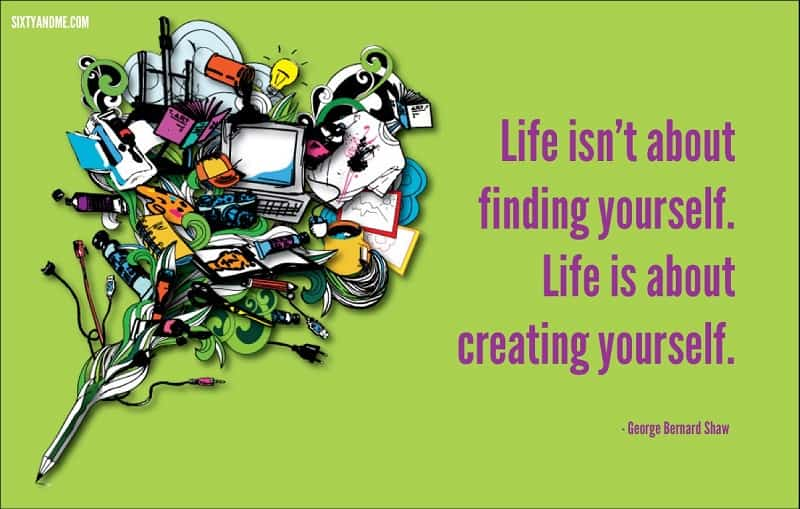 George Bernard Shaw - Life isn't about finding yourself. Life is about creating yourself.