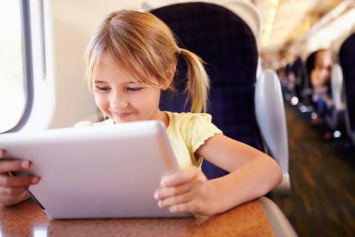 Grandchild and iPad