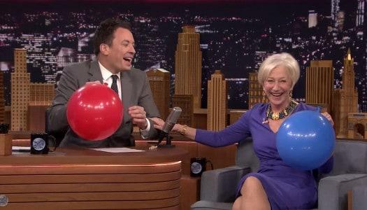 Happiness is Listening to Helen Mirren Talk After Inhaling Helium