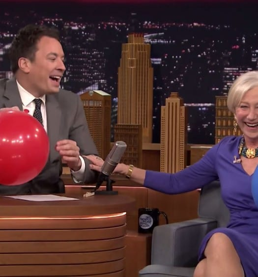 Happiness is Listening to Helen Mirren Talk After Inhaling Helium