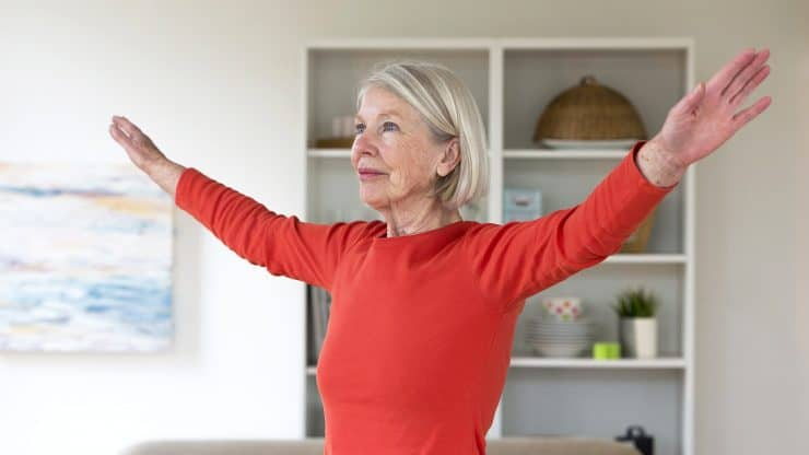 Senior woman happy after 60