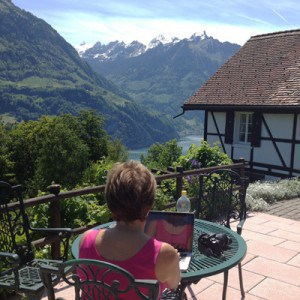Our fabulous view, 2-week exchange high in the Swiss Alps