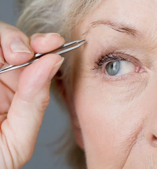 Greying and Thinning Eyebrow
