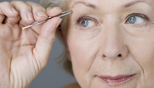 Makeup for Older Women: How to Deal with Uneven Eyebrows