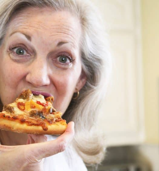 senior woman post-menopause cravings healthy eating