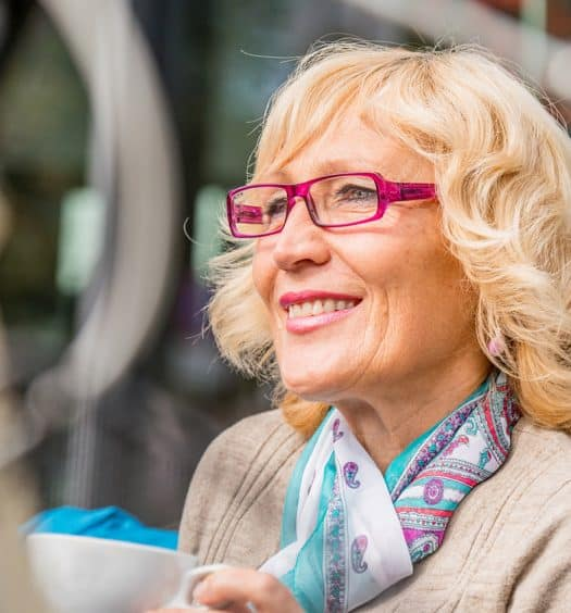 Senior woman reinventing yourself