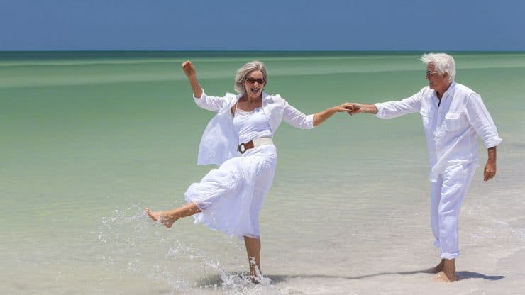 Senior Travel Vacationing All-Inclusive Hotel