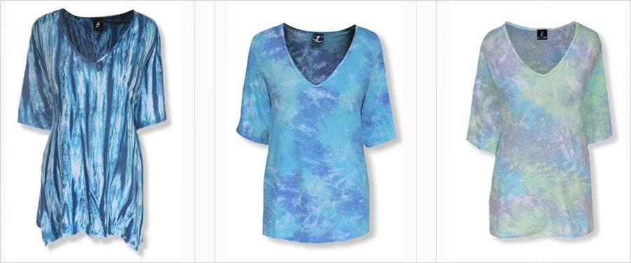 Retro-chic plus size top in bold tie dye