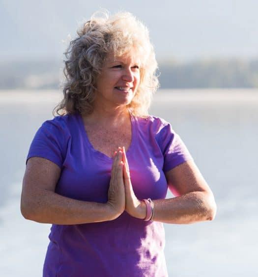 senior woman meditation yoga