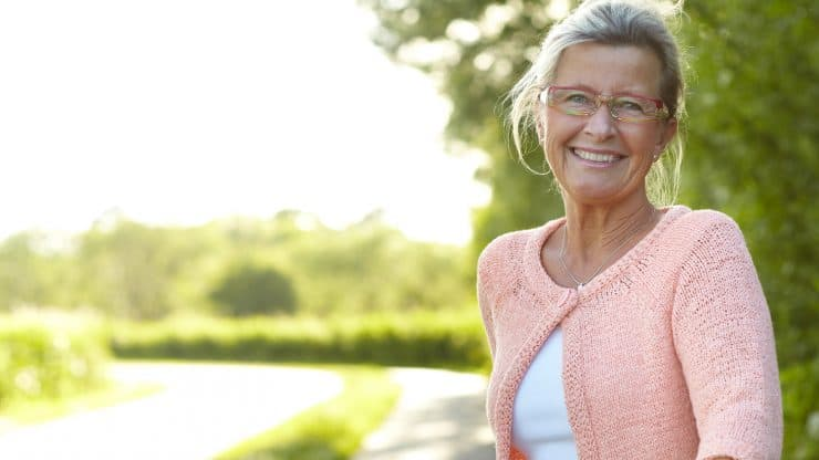 senior woman how to be happy