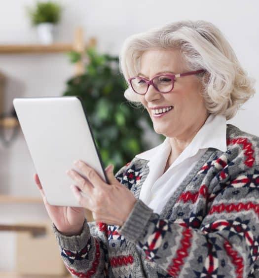 Senior woman brain health
