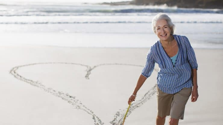 Senior woman healthy brain healthy heart