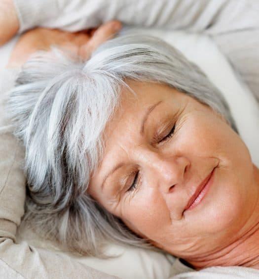 senior woman how to sleep better