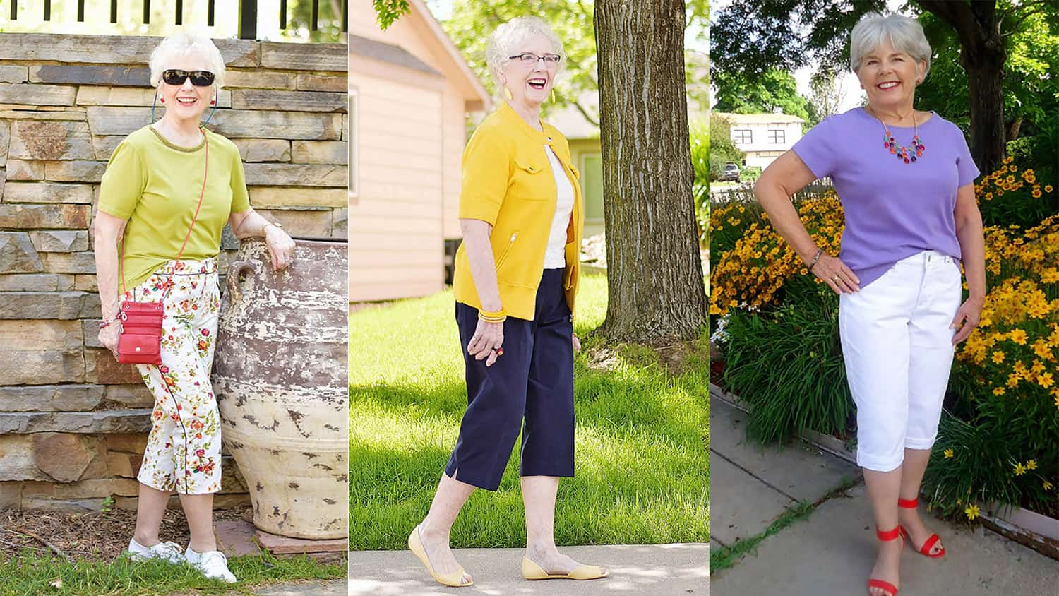 Fashion For Older Women Capri Pants For The Summer Months-2626