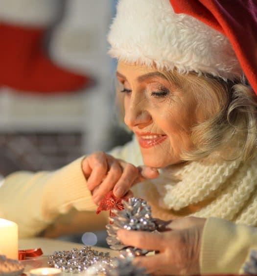senior woman new year christmas