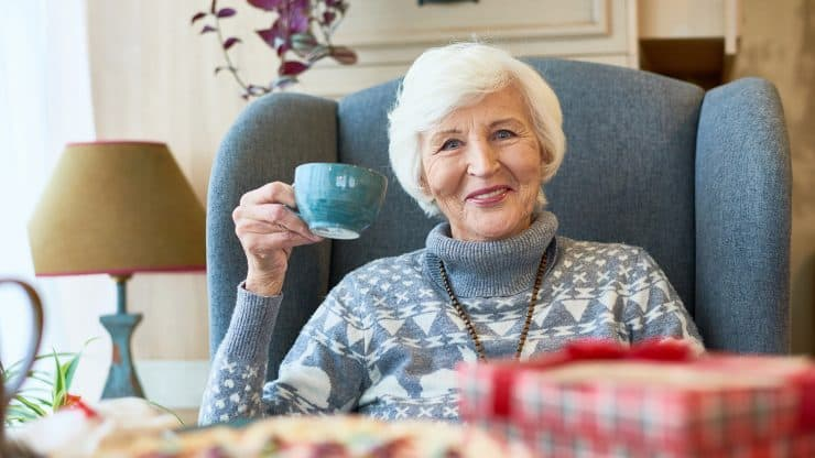 senior woman holidays