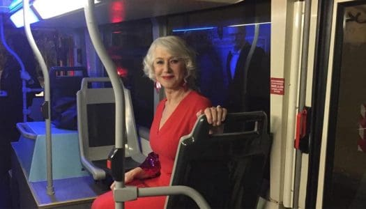 Helen Mirren Ditches Her Limo, Takes the Bus to Movie Premier