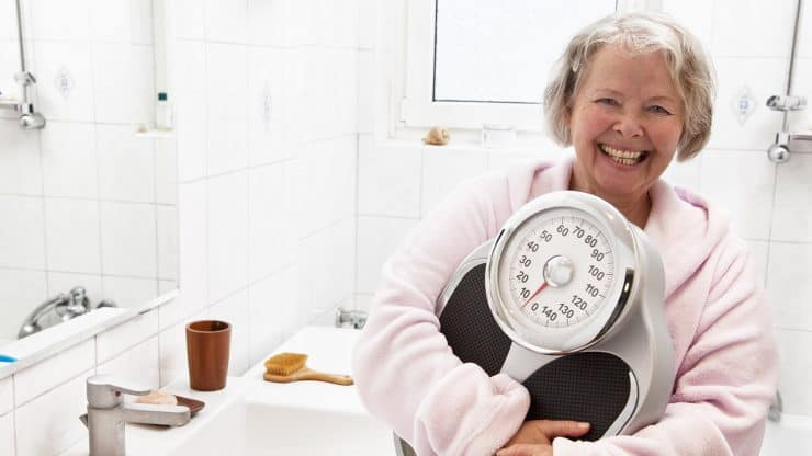 senior woman overweight