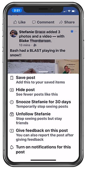 Facebook - be proactive with posts