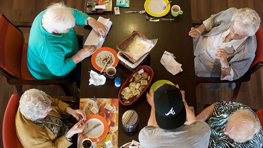 Retirees and College Students Living Together