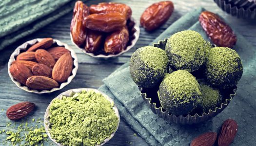My Favorite Easy-to-Make Matcha, Date and Almond Bliss Balls Recipe