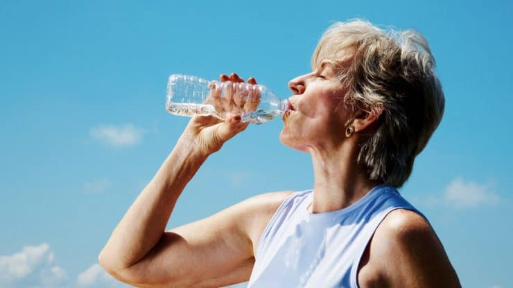 senior woman dehydration