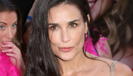 Demi Moore Steps Out to Support Her Celebrity Friend in Style