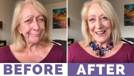 My Sparkly Makeup for Older Women Holiday Makeover – Makeup List Below :)