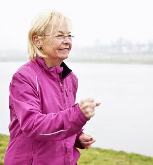 senior woman benefits of walking