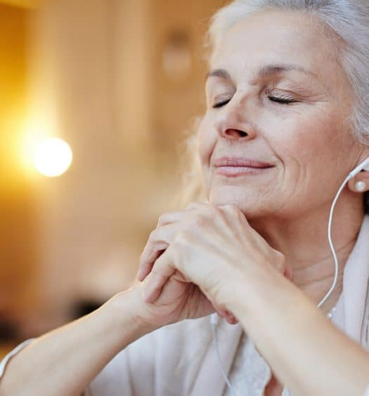 senior woman music