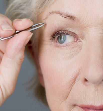 shaping eyebrows mature makeup