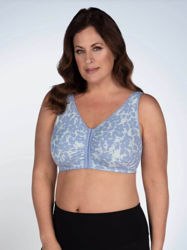 The Meryl - Cotton Front-Closure Leisure Bra from Leading Lady